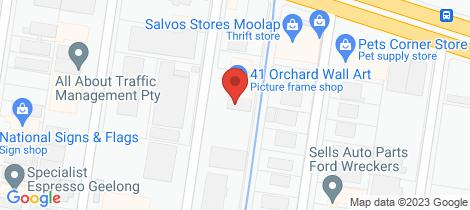 Location map for 3/7-11 Moon Street Moolap