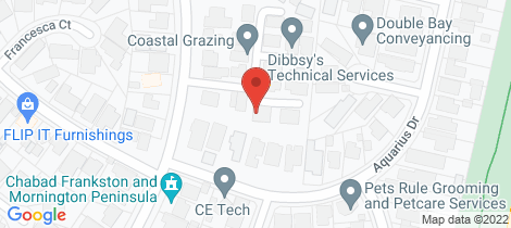 Location map for 25 Hilltop Mews Frankston