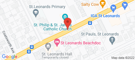 Location map for The Pinnacle Release St Leonards