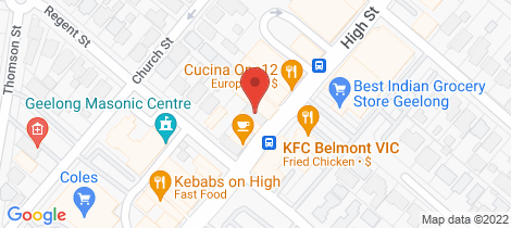 Location map for Level 1/Rear/132 High Street Belmont