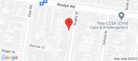 Location map for 4 Rugby Street Belmont