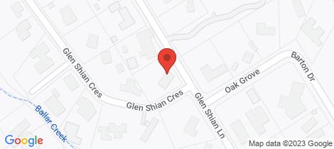 Location map for 45 Glen Shian Lane Mount Eliza