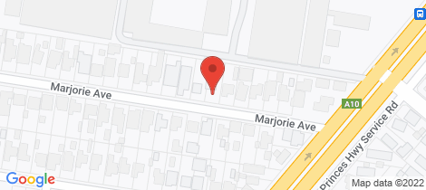 Location map for 14 Marjorie Avenue Belmont