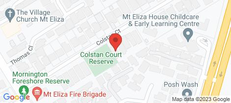 Location map for 14 Colstan Court Mount Eliza