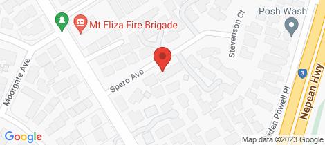 Location map for 3/7 Spero Avenue Mount Eliza