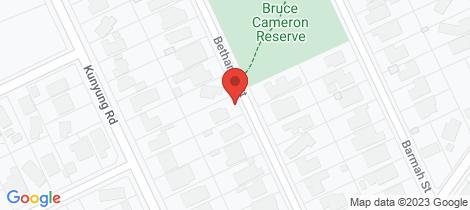 Location map for 56 Bethanga Street Mount Eliza