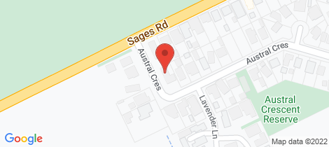 Location map for 30 Austral Crescent Baxter