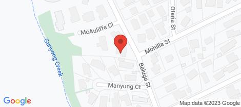 Location map for 22 Beluga Street Mount Eliza