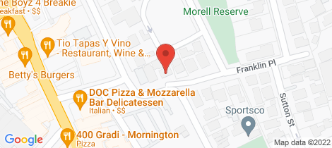Location map for 1a Franklin place Mornington