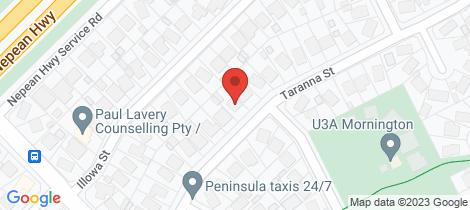 Location map for 19 Taranna Street Mornington