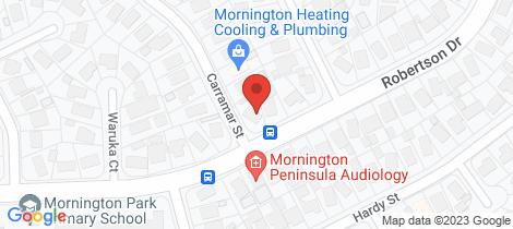 Location map for 65 Robertson Drive Mornington