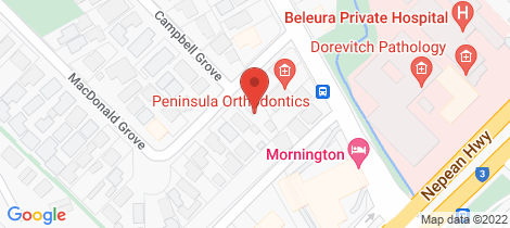 Location map for 40 Macdonald Grove Mornington