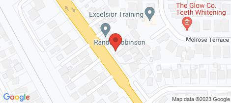 Location map for 1&2/1153 Frankston Flinders Road Somerville