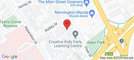 Location map for 3/14-16 Fleet Street Mornington