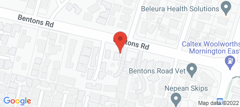 Location map for 118 Bentons Road Mount Martha