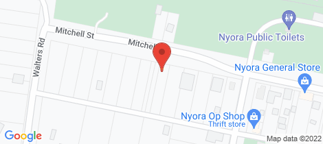 Location map for 33 Mitchell Street Nyora
