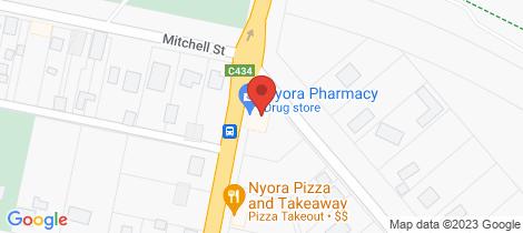 Location map for Lot 43 Davis Street Nyora