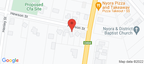 Location map for 5 Hewson Street Nyora
