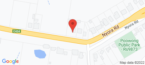 Location map for 52-54 Nyora Road Poowong