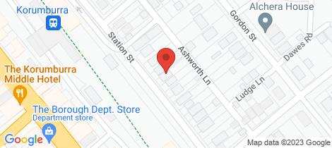 Location map for 11 Station Street Korumburra