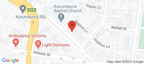 Location map for 41 Mine Road Korumburra