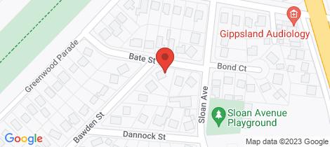 Location map for 5 Bate Street Leongatha