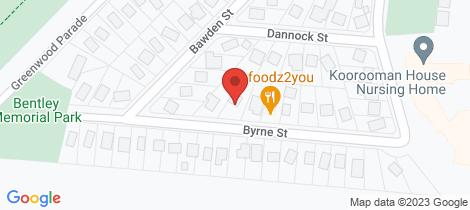 Location map for 16 Byrne Street Leongatha