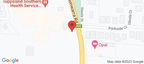 Location map for 145 Inverloch Koonwarra Road Koonwarra