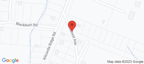 Location map for 15 Hillcrest Avenue Kilcunda