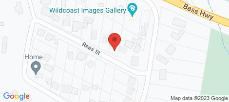 Location map for 2/1a Rees Street Kilcunda