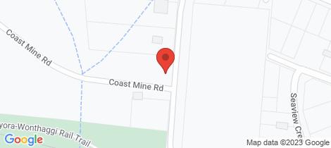 Location map for Lot 2 Coast Mine Road Kilcunda