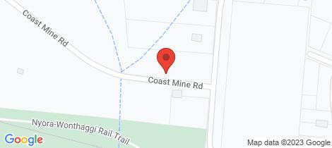 Location map for 8 Coast Mine Road Kilcunda