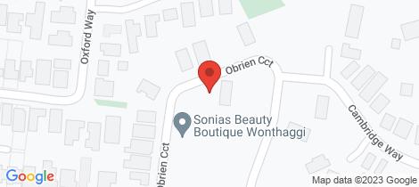 Location map for 30 O'Brien Circuit Wonthaggi