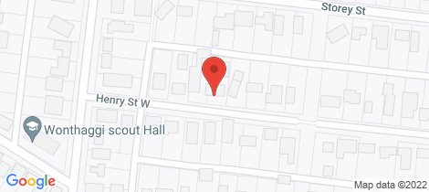 Location map for 11 Henry Street West Wonthaggi
