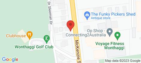 Location map for 1/127 McKenzie Street Wonthaggi