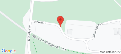 Location map for 8 Heron Drive Wonthaggi