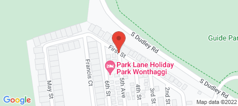 Location map for 1 First Avenue Wonthaggi
