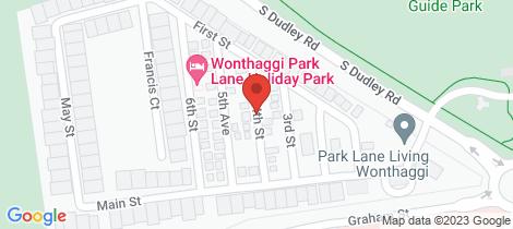 Location map for 4 Centennial Drive Wonthaggi