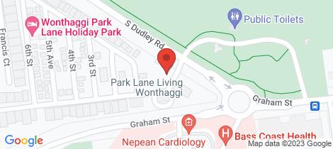 Location map for 15 Main Street Coalfields Park Wonthaggi