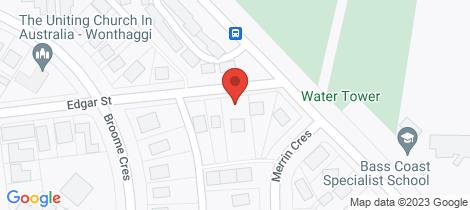 Location map for 3 Edgar Street Wonthaggi