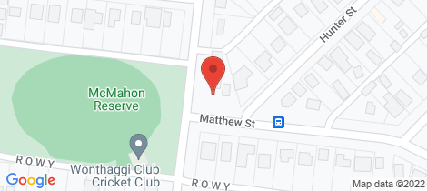 Location map for Lot 1 Matthew Street Wonthaggi