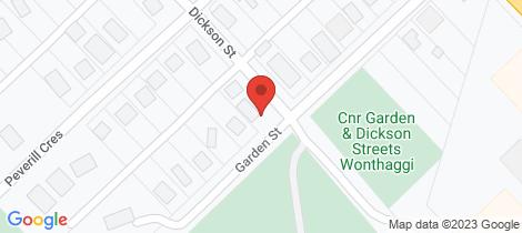 Location map for 20 Garden Street Wonthaggi