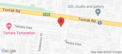 Location map for 83 Tamara Crescent Inverloch