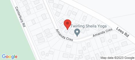 Location map for 10 AMANDA CRESCENT Venus Bay