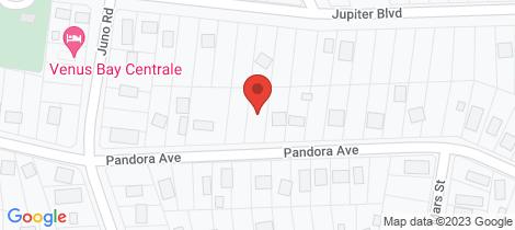 Location map for 43 PANDORA AVENUE Venus Bay