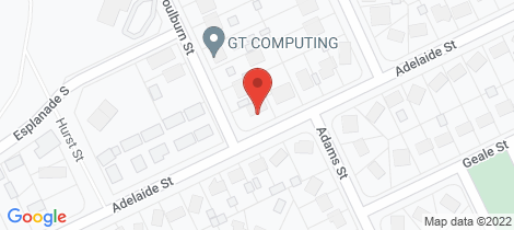 Location map for 45 Adelaide Street George Town