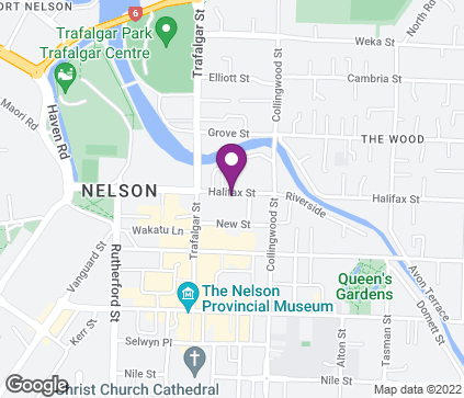 Map of 44 Halifax Street in Nelson