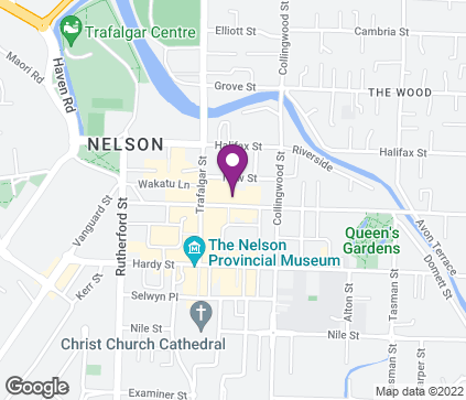 Map of 95 Bridge Street in Nelson