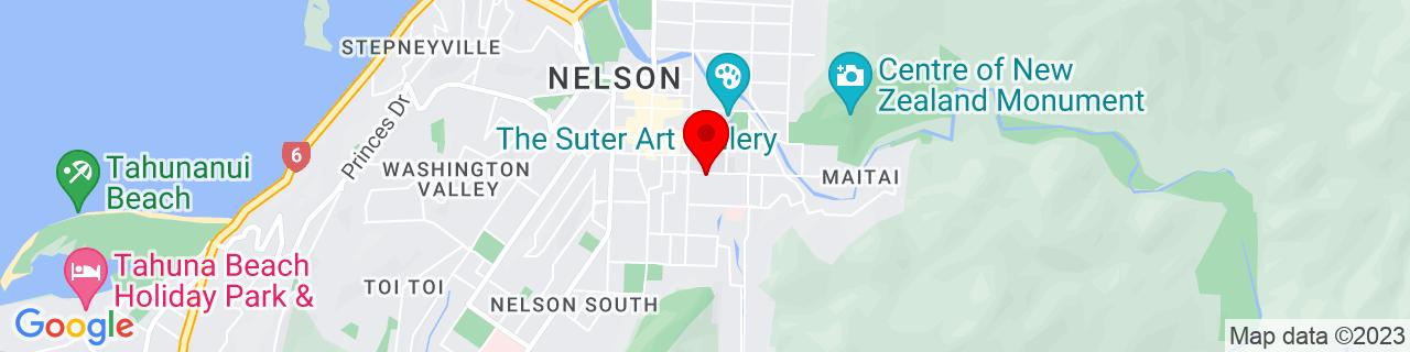 Google Map of -41.276516666666666, 173.28809166666667