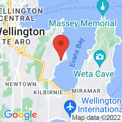 Map showing Greta Point Cafe